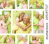 happy senior couple outdoor... | Shutterstock . vector #105197717