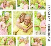 happy senior couple outdoor... | Shutterstock . vector #105197717