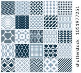 collection of vector abstract... | Shutterstock .eps vector #1051977251
