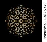 circular pattern. golden... | Shutterstock .eps vector #1051977551
