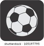 creative soccer ball icon
