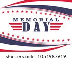 memorial day background with... | Shutterstock .eps vector #1051987619