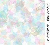 pastel color leaves pattern...   Shutterstock .eps vector #1051999214