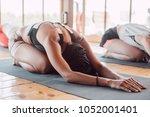 multiethnic group of women... | Shutterstock . vector #1052001401