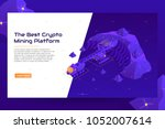 isometric crypto mining concept ... | Shutterstock .eps vector #1052007614