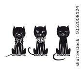 creative funny cat illustration | Shutterstock .eps vector #1052008124