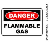 danger flammable gas sign.... | Shutterstock .eps vector #1052008265