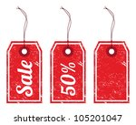 sale retro price tags | Shutterstock .eps vector #105201047