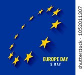 europe day with perspective... | Shutterstock .eps vector #1052011307