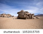 rock formations of dali desert... | Shutterstock . vector #1052015705