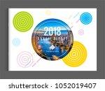 cover design for annual report... | Shutterstock .eps vector #1052019407