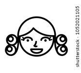 perm hair style illustration | Shutterstock .eps vector #1052021105