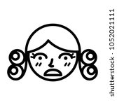 perm hair style illustration | Shutterstock .eps vector #1052021111