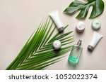 different skin care cosmetic... | Shutterstock . vector #1052022374
