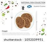 scottish cuisine. european... | Shutterstock .eps vector #1052039951