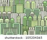 simple city illustration  ... | Shutterstock .eps vector #105204365