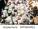 delicious white cookies ... | Shutterstock . vector #1052044901