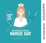 international nurse day banner... | Shutterstock .eps vector #1052045999