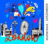 london  vector illustration ... | Shutterstock .eps vector #1052048024