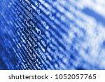 displaying program code on... | Shutterstock . vector #1052057765