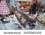delicious cookies and candies... | Shutterstock . vector #1052063105
