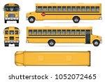 school bus vector mock up.... | Shutterstock .eps vector #1052072465