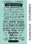 hand lettering prayer of the... | Shutterstock .eps vector #1052080841