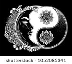yin and yang symbol with... | Shutterstock .eps vector #1052085341