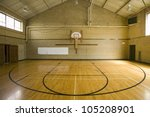 High School Basketball Court...