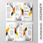 vector tri fold business... | Shutterstock .eps vector #1052096879