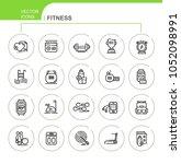 fitness. set of flat  linear ... | Shutterstock .eps vector #1052098991