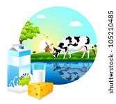 animal,beverage,can,carton,cattle,cheese,concept,countryside,cow,dairy,design,domestic,drink,editable,farm