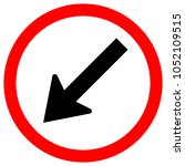 keep left by the arrow red... | Shutterstock .eps vector #1052109515