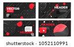 vector new memphis style banner ... | Shutterstock .eps vector #1052110991