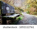 forest park bench | Shutterstock . vector #1052112761
