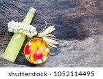 thai style scented water... | Shutterstock . vector #1052114495