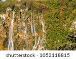 amazing top view of waterfalls... | Shutterstock . vector #1052118815