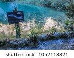 sign of lake gavanovac  jezero... | Shutterstock . vector #1052118821