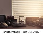 vintage retro revival objects... | Shutterstock . vector #1052119907