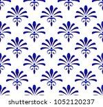 floral ornament backdrop damask ... | Shutterstock .eps vector #1052120237
