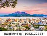 kagoshima  japan skyline with...   Shutterstock . vector #1052122985