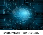 futuristic design of an... | Shutterstock .eps vector #1052128307
