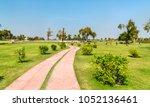 park at rani ki vav  an... | Shutterstock . vector #1052136461