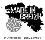 made in brittany  produit en... | Shutterstock .eps vector #1052139599