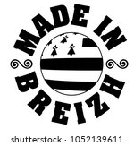 made in brittany  produit en... | Shutterstock .eps vector #1052139611