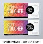 gift voucher design template.... | Shutterstock .eps vector #1052141234
