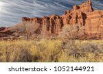 red rock at capital reef... | Shutterstock . vector #1052144921