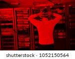 it business man in network... | Shutterstock . vector #1052150564