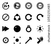solid vector icon set   24... | Shutterstock .eps vector #1052151485