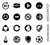 solid vector icon set   24... | Shutterstock .eps vector #1052154737